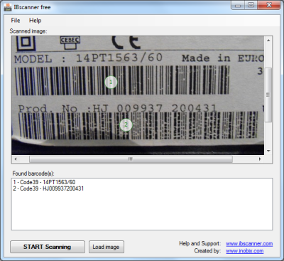 IBscanner Free - Free Barcode Scanner for  NET